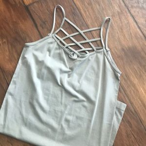 Stretchy crossed tank top